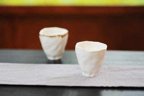 Double-hung Shuang Hong Living: │ bloom white porcelain cup (white)