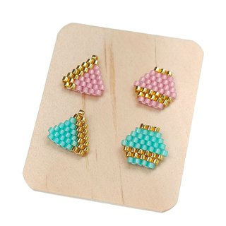 Stud Earrings Set of 2, beautiful and fun shapes