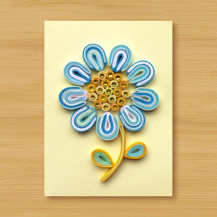 Handmade Roll Paper Card _ Flower_C1 ... Mother Card, Valentine Card