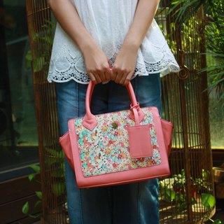 Designer  Pink Flower Floral Series Elegant Lady Handbag Cute Art Design Printed