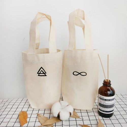 Hand-stamped beverage bags without printing