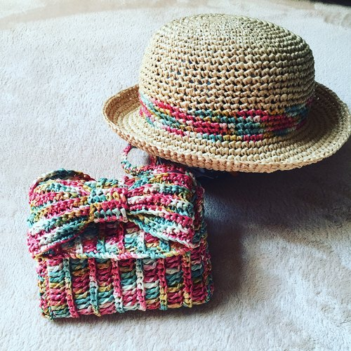 Simple rope trim cap sun hat Small Size