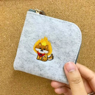 Born, I will use the Shiba Inu embroidery wool felt coin purse