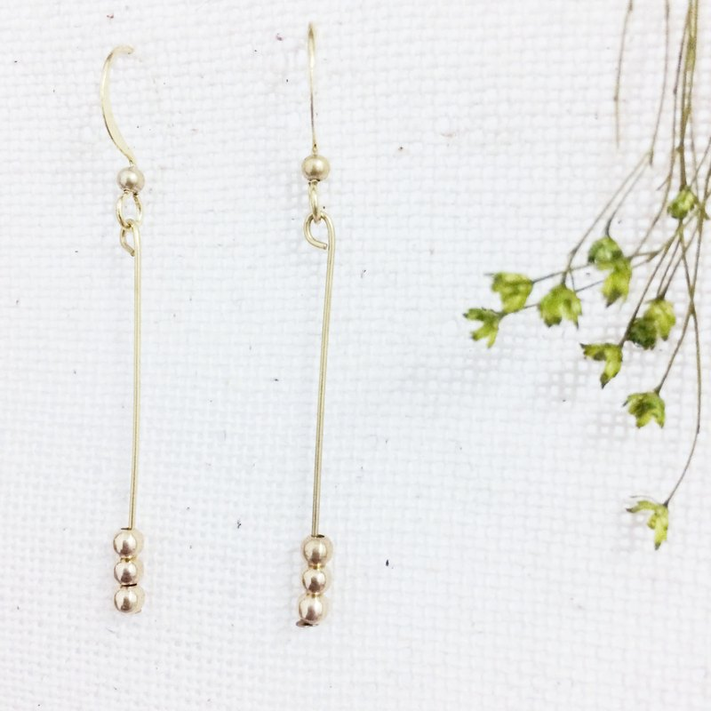 Travelin nothing but something Brass simple handmade earrings ear hook l ear needle l ear clip