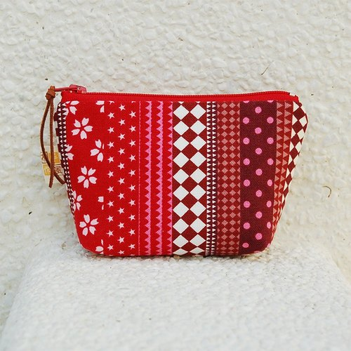 Simple style small storage bag _ red