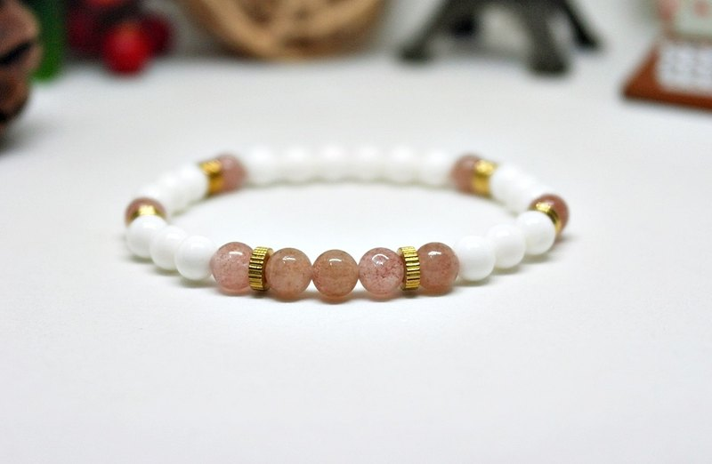 Natural stone x brass elastic bracelet within radius