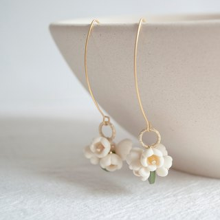 Teatime egg flower afternoon tea earrings ear clip