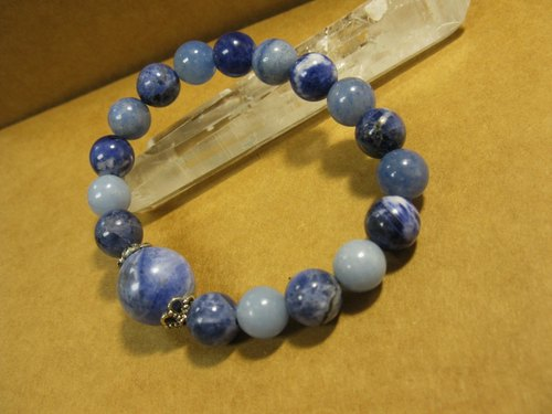 muso: Blue Ocean bracelet. Blue Line Stone. Angel stone. Soda stone (sodalite). Natural special. Mix Blue beads Bracelet