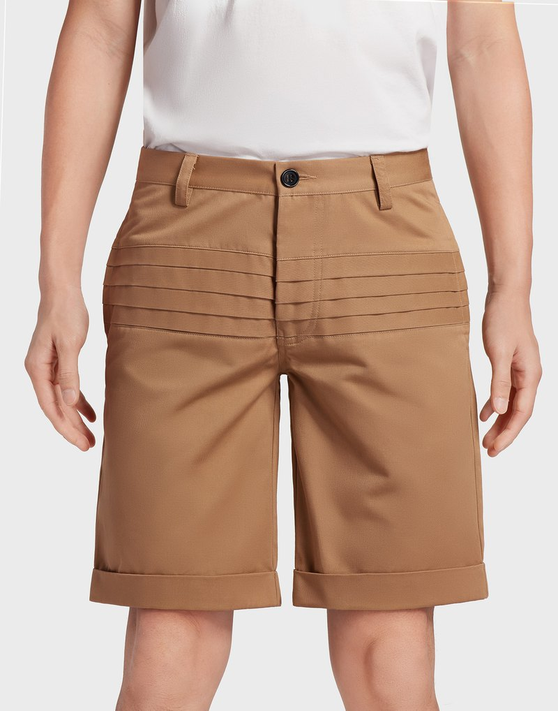 Slim-fit Shorts (Beige)