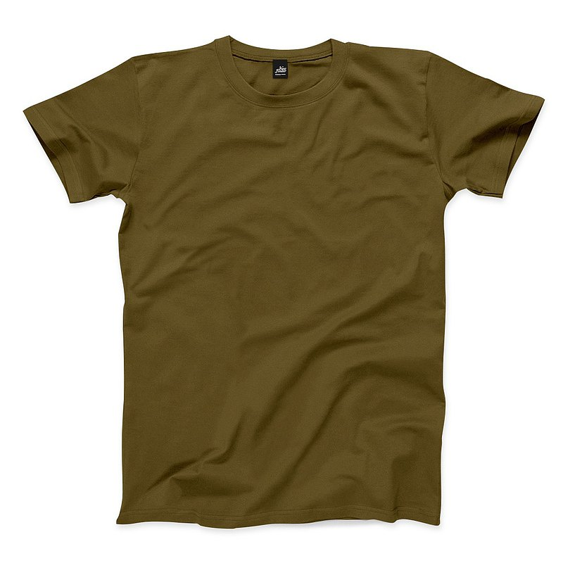 Plain neutral short-sleeved T-shirt - Army Green