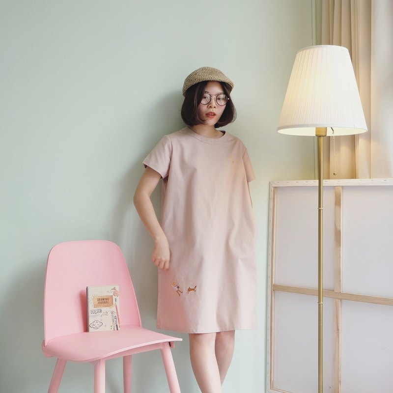 Venus Dress : A dream boy  (Soft Pink)