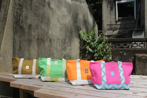 "[Good service] GOODO handmade × canvas / curtains ""good life with handbag '"