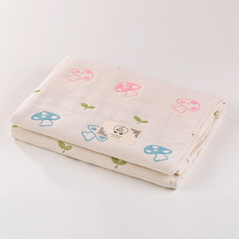 [Made in Japan Sanhe Kapok] Six-gauge gauze - Mushroom sprouts M