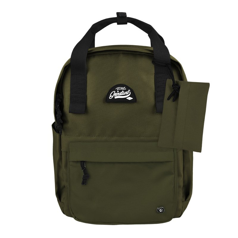 Grinstant mix and match detachable group 13 吋 backpack - Adventure Series (Army Green)