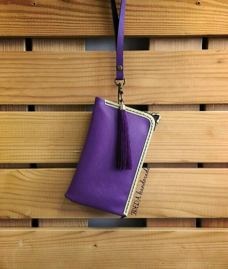 【MY。手作】Triangle geometric kiss lock purse / bridesmaid gift / frame purse for iPhone 6/6 plus/ Samsung Note 2 /3 / 5 ~ Purple