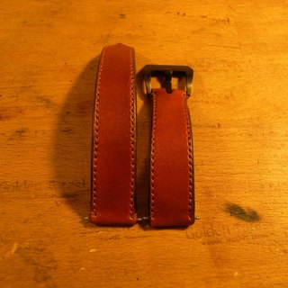 Golden Forest hand-dyed classic red strap