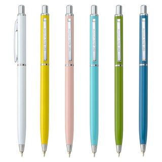 [IWI]daily writing US and Japan metal 0.5mm blue oily ball pen - silver accessories 6 into