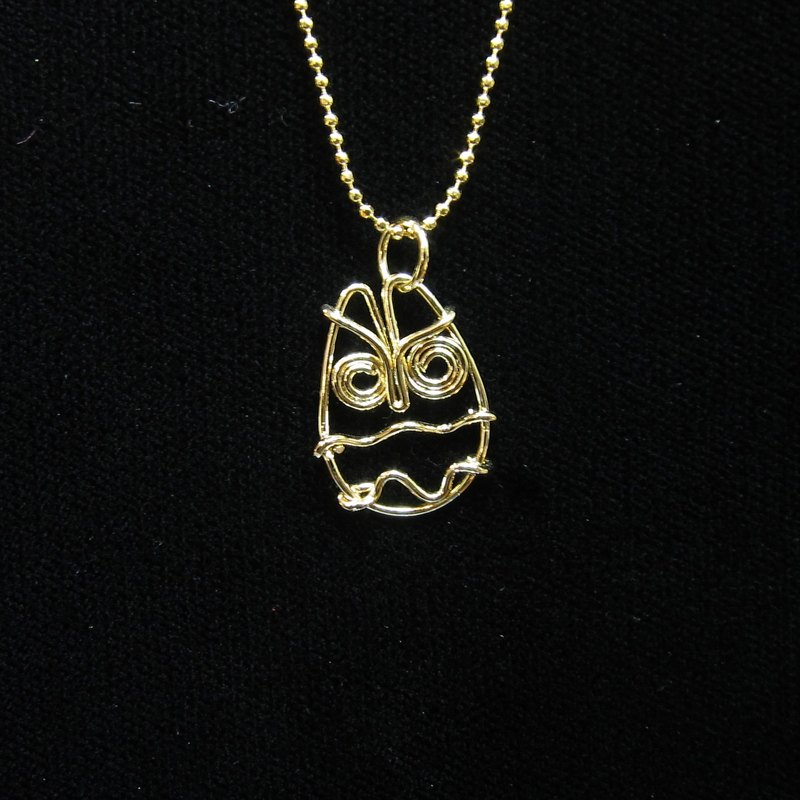 Winwing metal braided necklace - [owl]