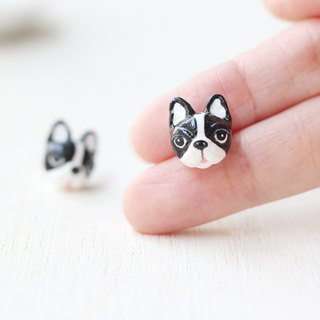 Tuxedo French Bulldog Earrings, Dog Stud Earrings, dog lover gifts