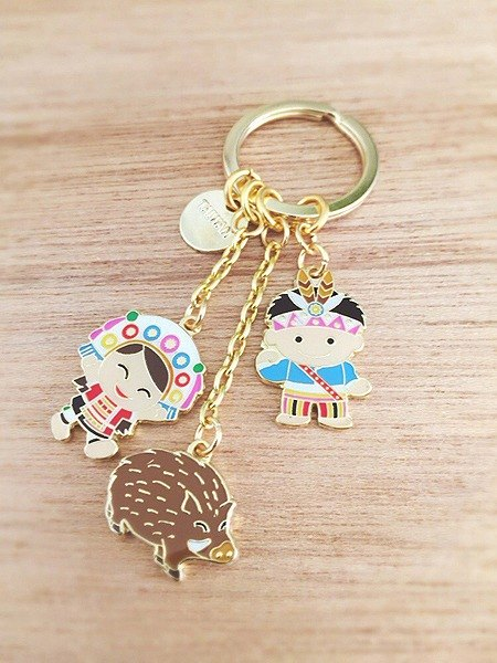 Golden Love Taiwan Key Chain - Taiwan Aborigines