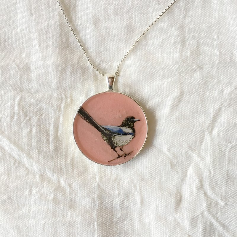 Pink Magpies _ _ _ silver base alloy Christmas gift
