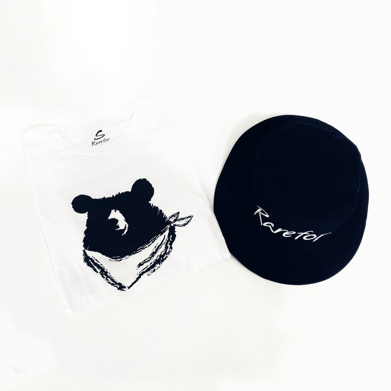 Rarefor T-shirt White T-shirt Taiwan Black Bear [Goody Bag - Rare Blessed Bag]