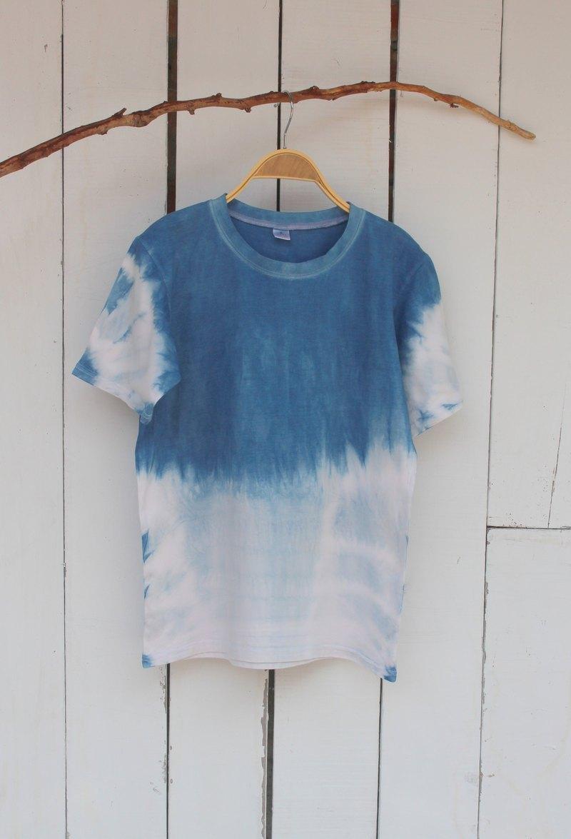 自在染isvara 手工藍染 純粹系列 映 純棉T-shirt