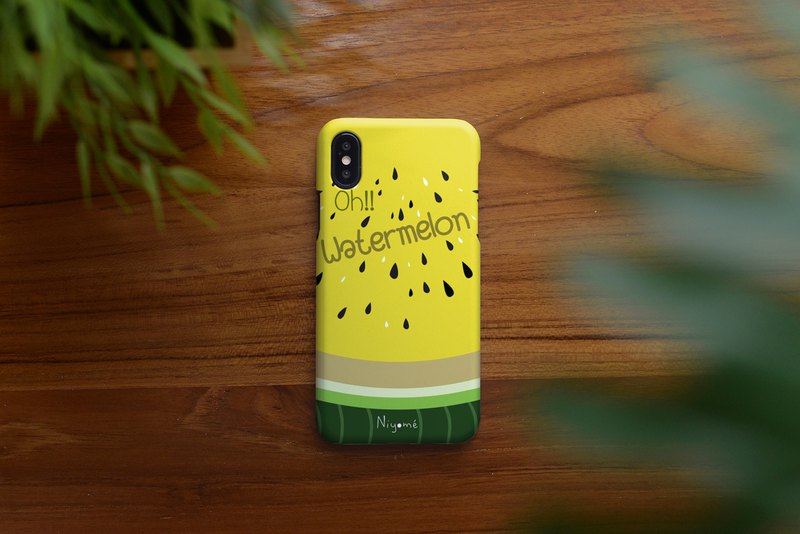 iphone case Yellow watermelon for iphone5s, 6s, 6s plus, 7, 7+, 8, 8+, iphone x