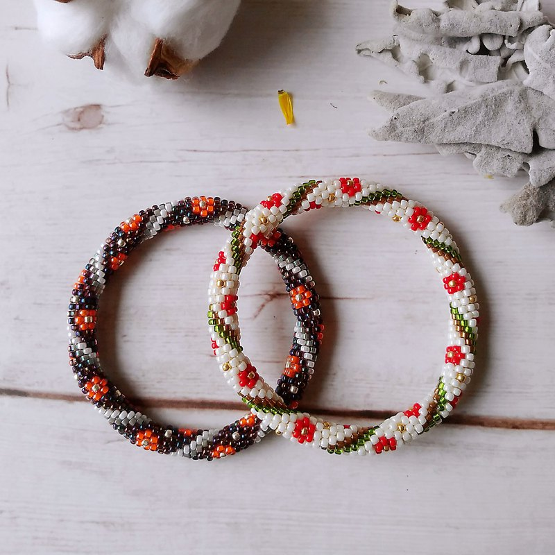 Fresh flower flower series jewelry original handmade beaded woven bracelet bracelet bracelet