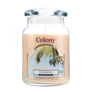 British Candle Colony Summer Seashore Glass Canned Candle 150hr