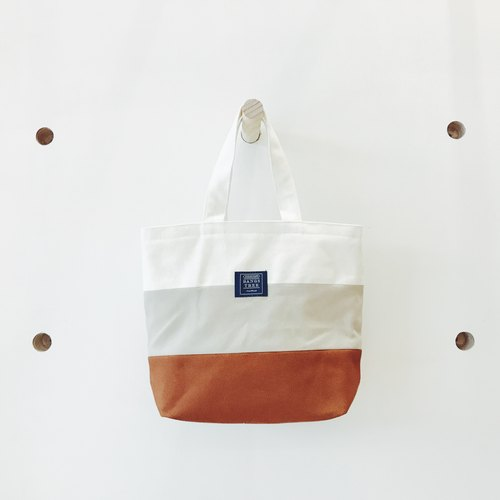 :: :: Bangs tree mixed colors portable small tote bag _ rice coffee