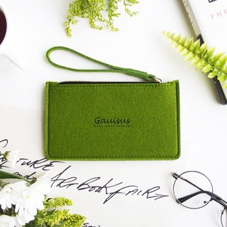 Leyang, wool felt / mobile phone storage bag - green grass green (small models / 4.7 吋 mobile phone / iPhone7 / 8)