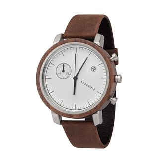 KERBHOLZ - Wood Watch - FRANZ - Smoked Brown (45mm)