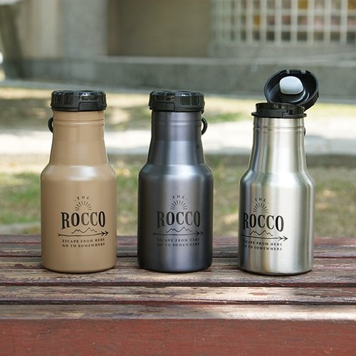 [DESTINO STYLE] Japan ROCCO OneTouch cover portable thermal insulation / cold water bottle 350ml