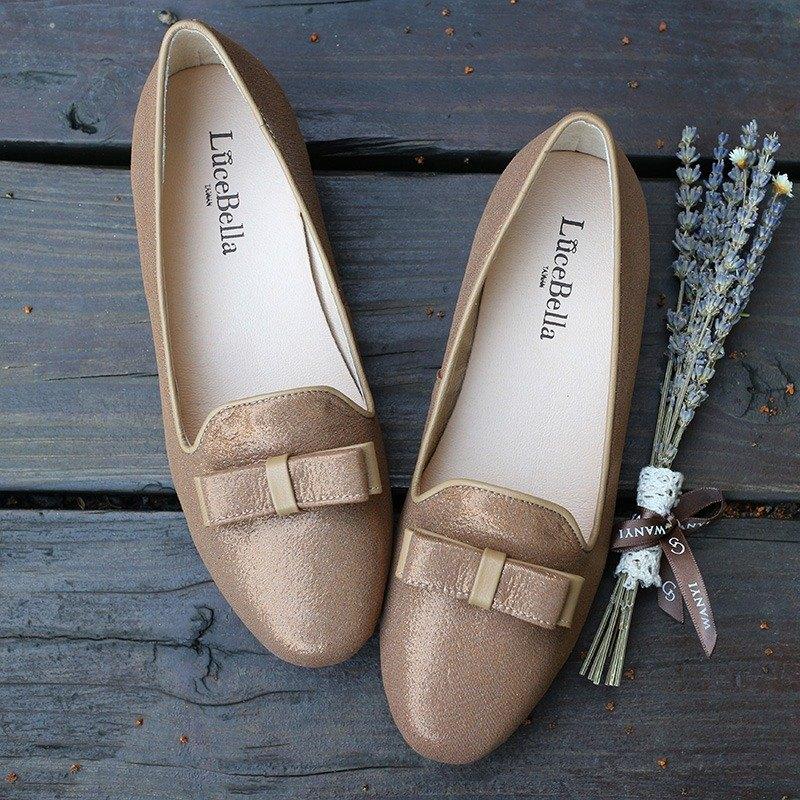 【換季特賣】-驕傲貴族-古典結飾樂福鞋_棕色