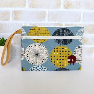 Embroidery Sheep Clutch Bag/Cosmetic Bag - (Purple Blue)