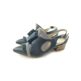 /The Deep/ Cliopsis - Wax blue / gray - Special 3D modeling *Pointy-toe sandals*