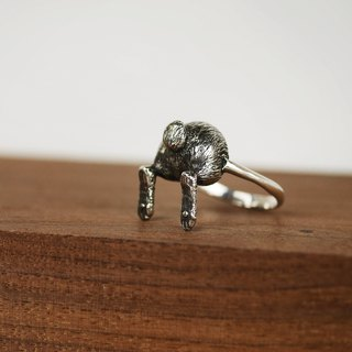 Ass Egg Series - Rabbit Sterling Silver Ring