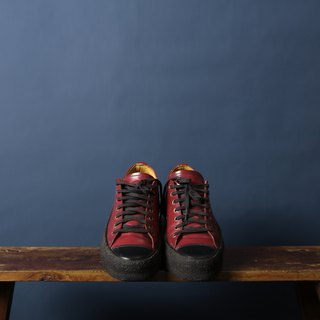 George Cox cherry red raw rubber bottom flat canvas shoes banana cat. Banana Cats
