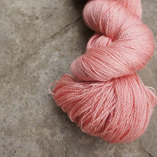 Hand dyed lace thread. Spring (Merino + Silk)