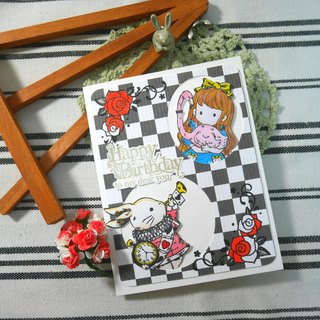 Handmade cards - Alice (birthday card / greeting card / Universal Card)
