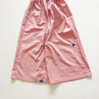 Natural cotton trousers - pull radish
