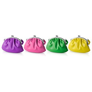 【LIEVO】 SMILE - Leather Handbag Gold_Deep Purple (Applicable to iPhone 5 / 4 screens and below)