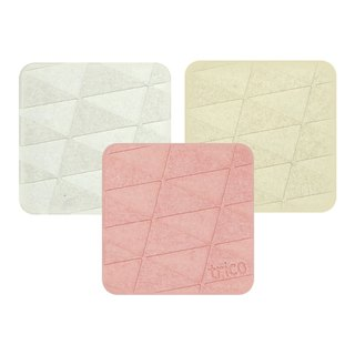 Japan trico ultra-quick dry algae earth coaster / soap pad (gray / cream / pink)