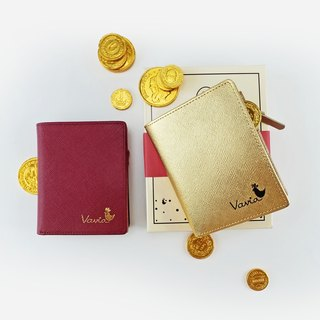 Wealth Wallet: 2 pocket book wallets (genuine leather 100%)