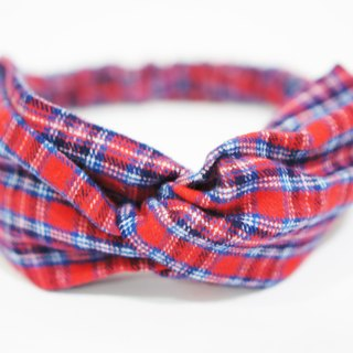 (Autumn & Winter) Scottish Plaid/Handmade Elastic Hairband