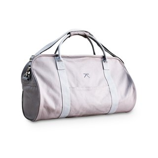 Canvas travel duffle bag - grey