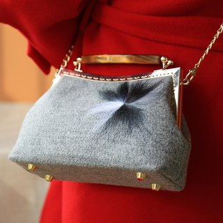 Wool Messenger Bag Handbag New Year's gift