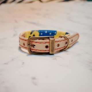 Dog collars, S size, Yellow forest_DCT090417