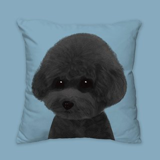 I will love you forever classic black poodle dog animal pillow / pillows / cushions